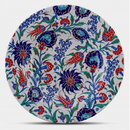 PLATE Plate with floral pattern ;;52;;;
