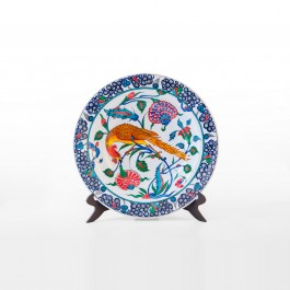 FLORAL Plate with floral pattern and bird figure ;;41