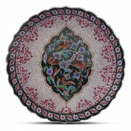 FLORAL Plate with floral pattern and birds ;;43;;;