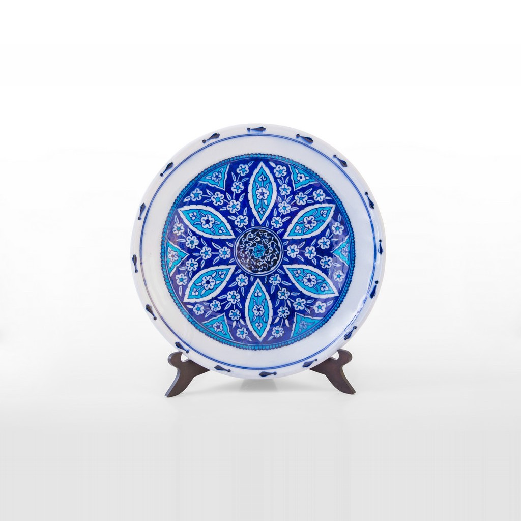 Plate with geometric pattern ;;30 - CONTEMPORARY