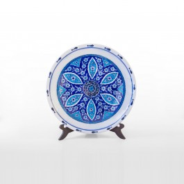 CONTEMPORARY Plate with geometric pattern ;;30