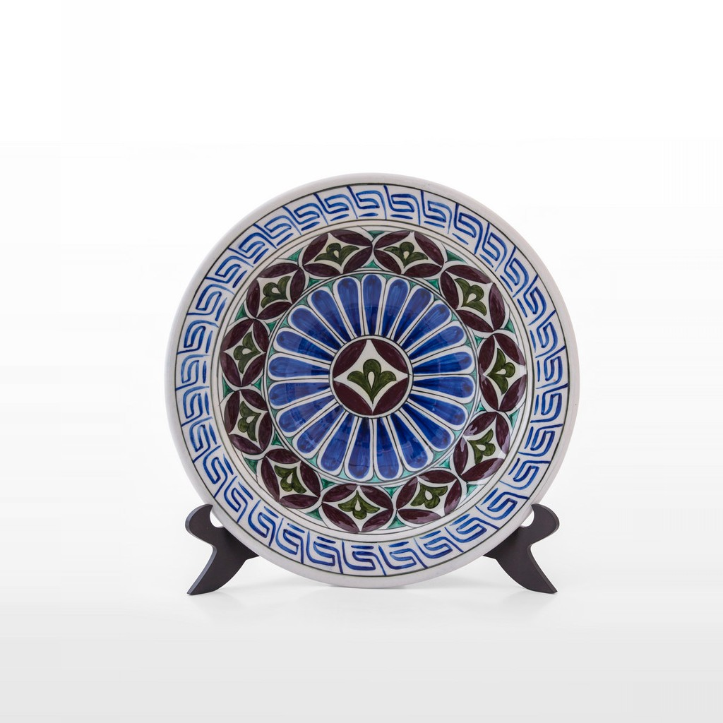 Plate with geometric pattern ;9;35 - PLATE