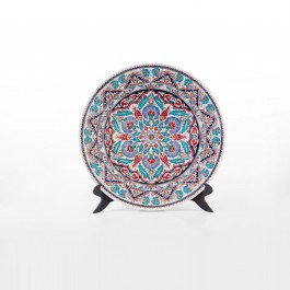 FLORAL Plate with geometrical pattern ;;45