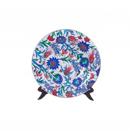 FLORAL Plate with hatai and rumi pattern ;;43