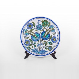 ARTIST Meliha Coşkun Plate with hatais and flowers ;;30