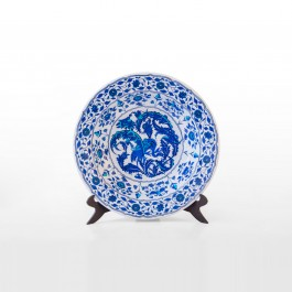FLORAL Plate with leaves and floral pattern ;;41