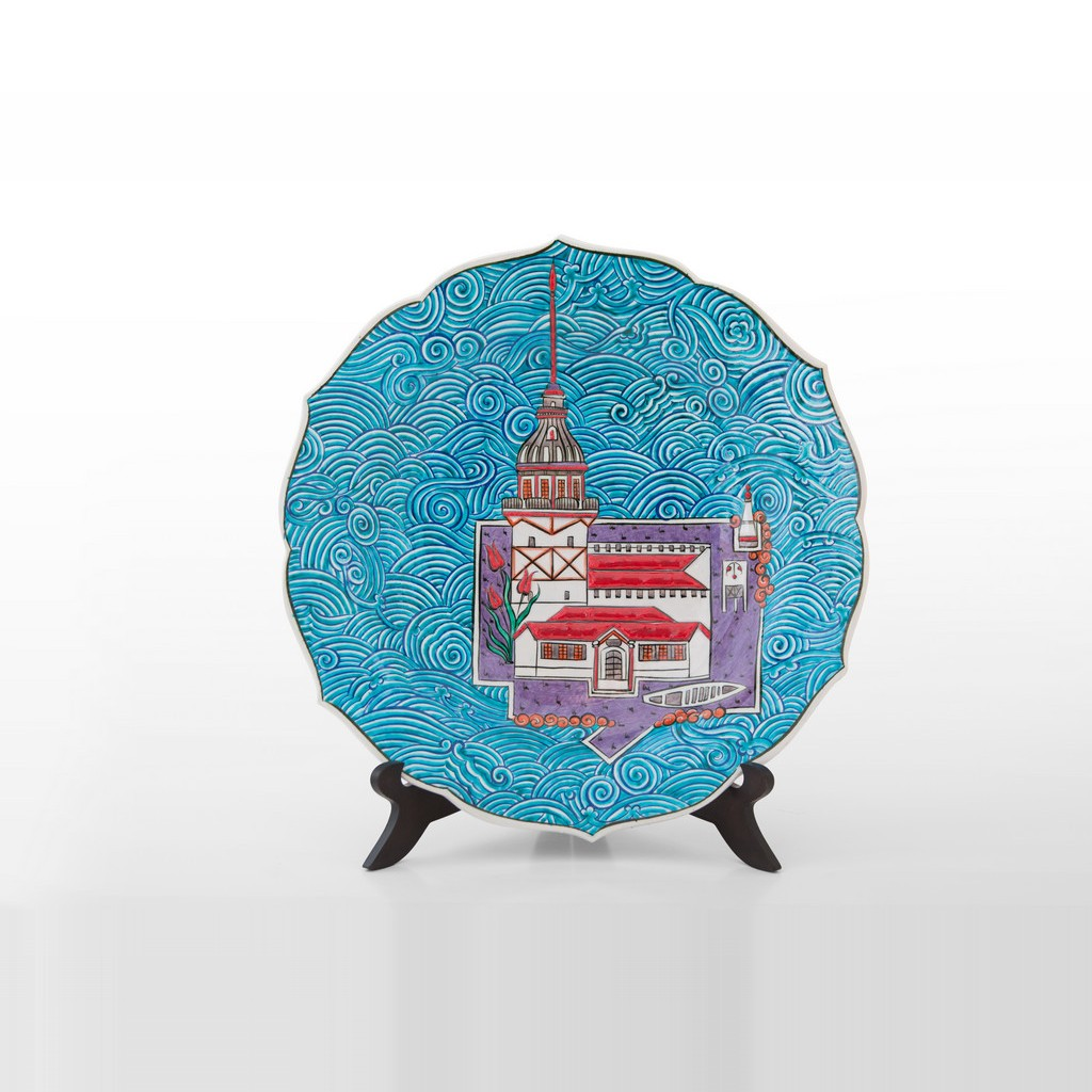 Plate with Maiden Tower ;;30 - ARTIST Saim Kolhan