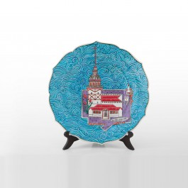 ARTIST Saim Kolhan Plate with Maiden Tower ;;30
