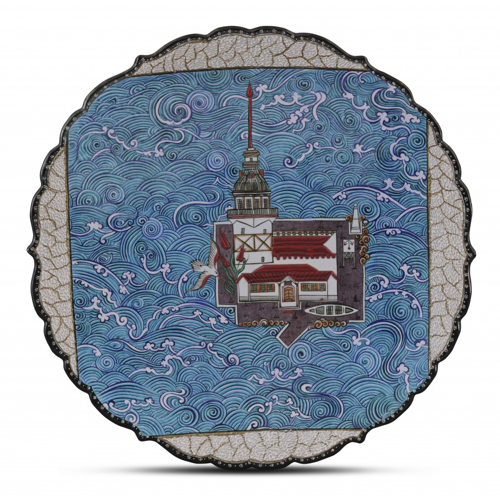 Plate with Maiden Tower on the Bosphorus ;;43;;; - CONTEMPORARY
