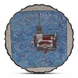 CONTEMPORARY Plate with Maiden Tower on the Bosphorus ;;43;;;