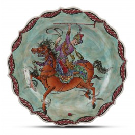 CONTEMPORARY Plate with miniature scene ;;30;;;