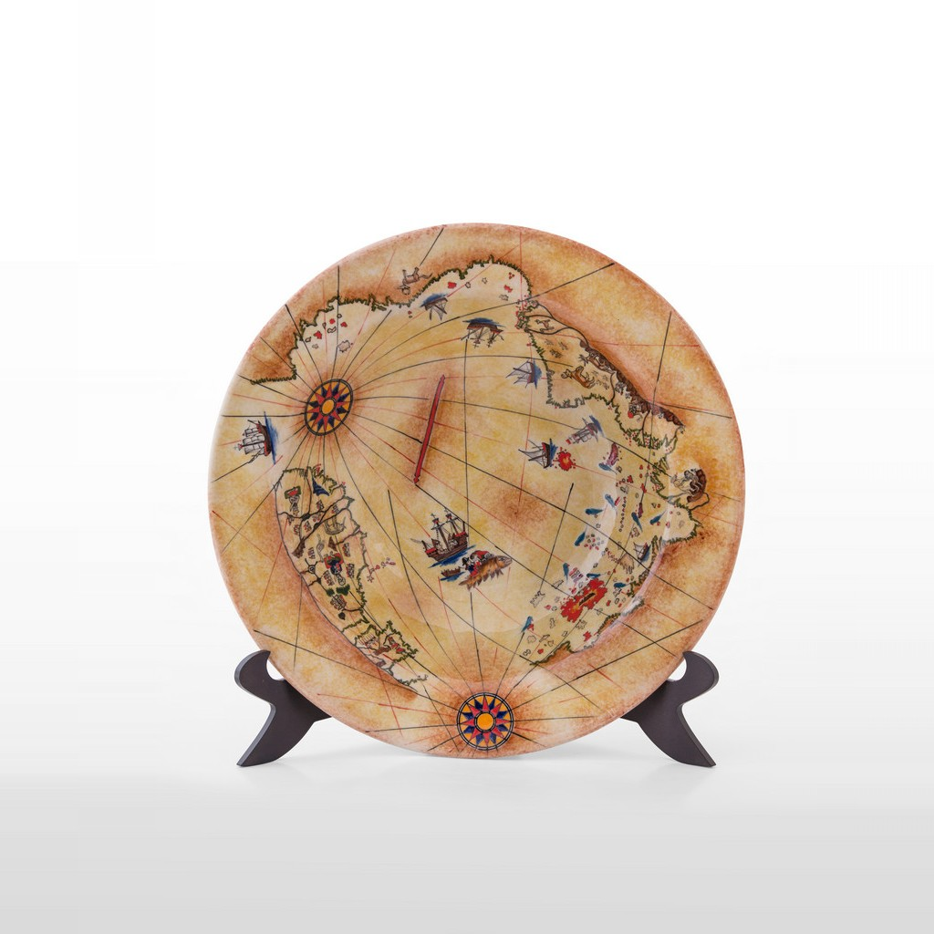 Plate with Pir'i Reis Map ;9;35 - GEOMETRIC
