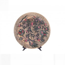 ARTIST Saim Kolhan Plate with saz leaves and floral pattern ;;