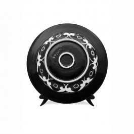 Plate with stylized bird figure ;; - PLATE  $i