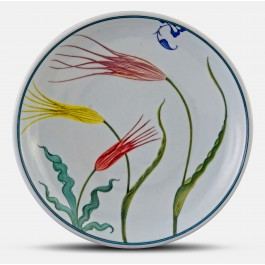 FLORAL Plate with stylized tulip pattern ;;30;;;