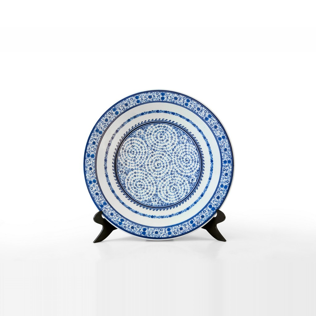 Plate with tugrakesh (Goldern Horn) pattern ;;42 - PLATE