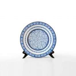 GEOMETRIC Plate with tugrakesh (Goldern Horn) pattern ;;42