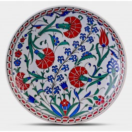 FLORAL Plate with tulip and carnation patterns ;;30;;;