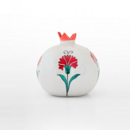 ARTIST Meliha Coşkun Pomegranate with carnation flowers in contemporary style ;14;14;;;