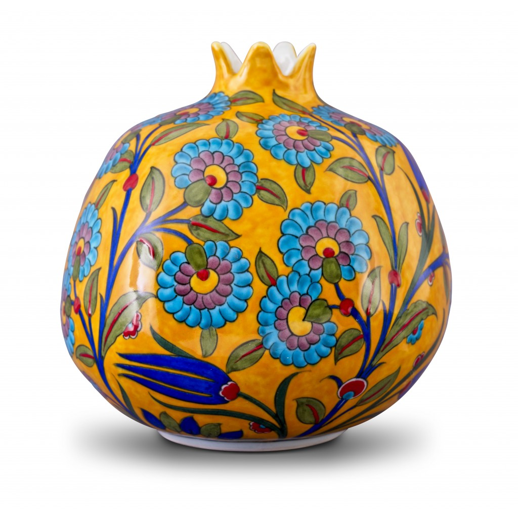 Pomegranate with floral pattern ;21;18;;; - ARTIST Adnan Ergüler