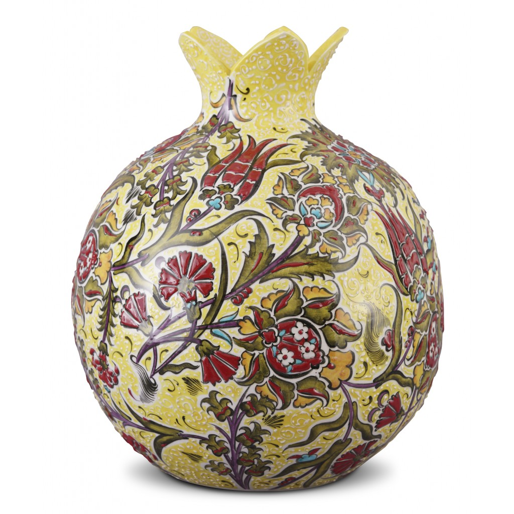 Pomegranate with floral pattern ;35;30;;; - FLORAL