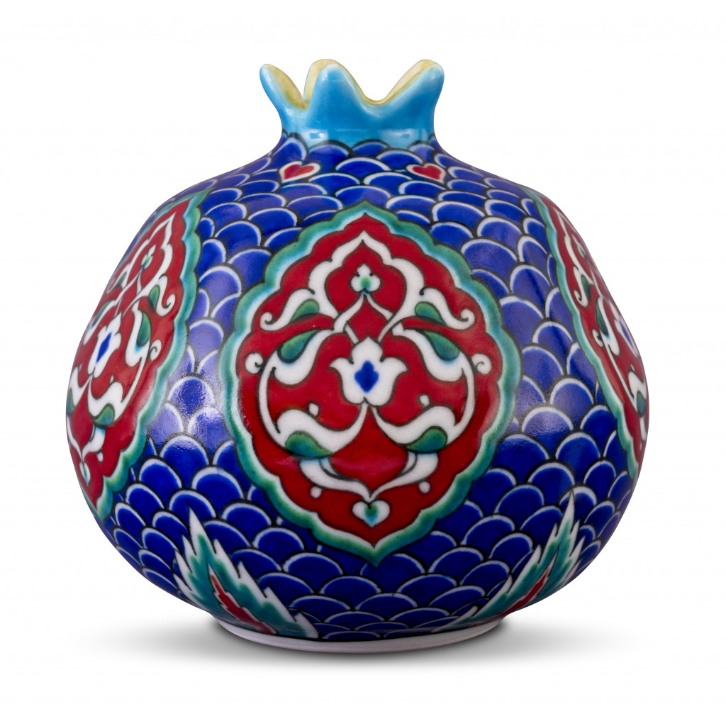 Pomegranate with Rumi pattern ;15;13;;; - ARTIST Adnan Ergüler