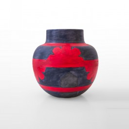 CONTEMPORARY Pot with geometrical pattern ;25;25