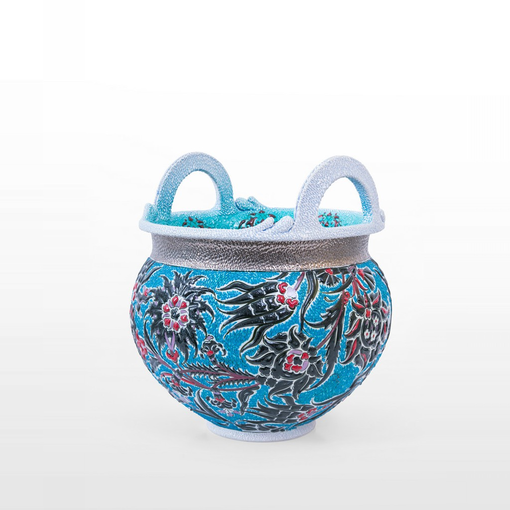 Pot with hatai and rumi patterns ;35;30 - DECORATIVE ITEM & OBJECTS
