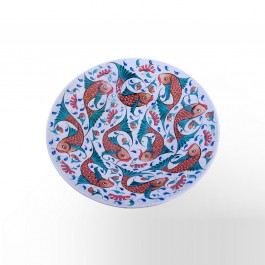 ARTIST Saim Kolhan Rimless plate with fishes ;;