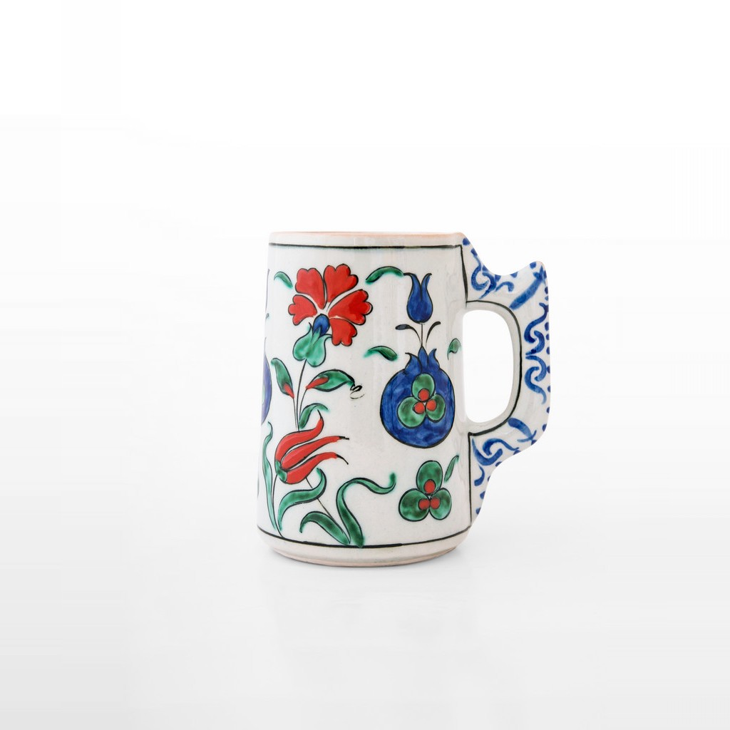 Tankard tulips, carnation flowers and pomegranate ;12;9 - TABLEWARE