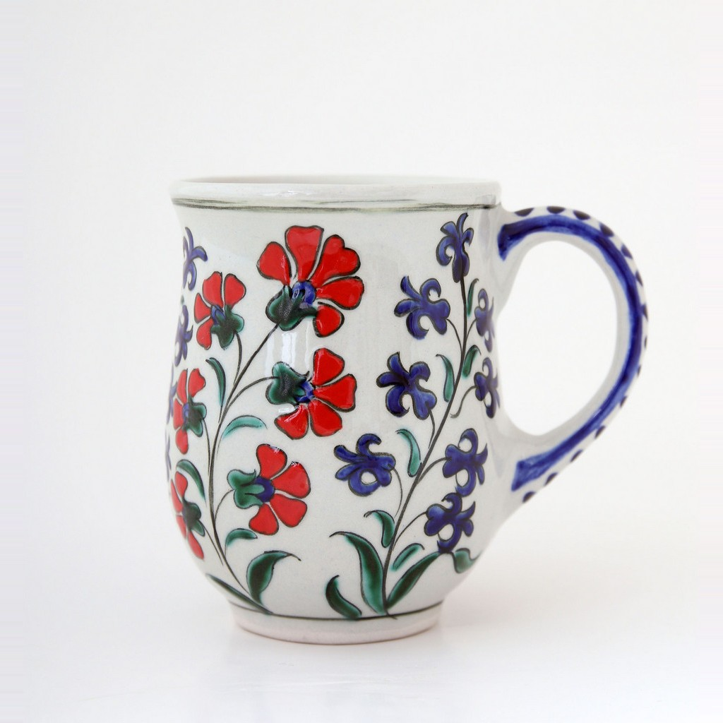 Tankard with carnation flowers and hyacinths ;10;8 - TABLEWARE