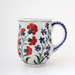ARTIST Meliha Coşkun Tankard with carnation flowers and hyacinths ;10;8