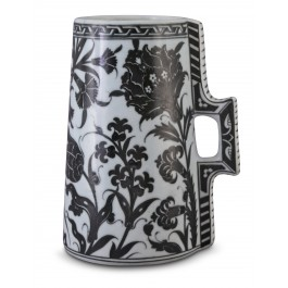 BLACK & WHITE Tankard with hatai, tulips and hyacinth patterns ;23;16;;;