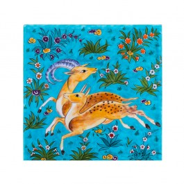 MINIATURE Tile with animalistic figure ;;25