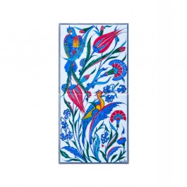 FLORAL Tile with bird figures and flowers ;50;25