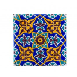 TILE & PANELS Tile with central damasque and hatai pattern ;;20/25