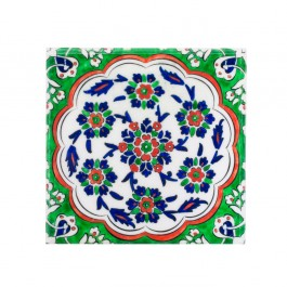 FLORAL Tile with central flower composition ;23;5