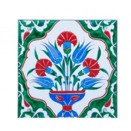 TILE & PANELS Tile with central flower composition ;;25