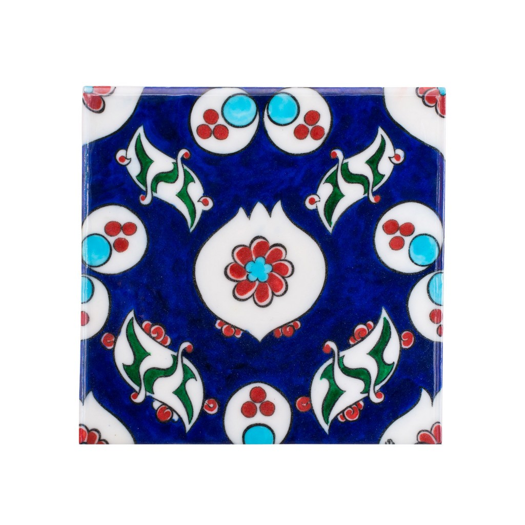 Tile with chintemani composition ;23;5 - TILE & PANELS