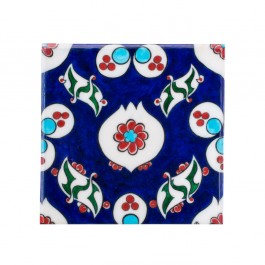 FLORAL Tile with chintemani composition ;23;5
