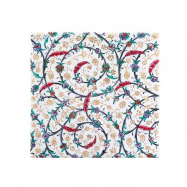 FLORAL Tile with contemporary tugrakesh pattern ;;20/25