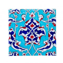 FLORAL Tile with damasque and rumi pattern ;;25
