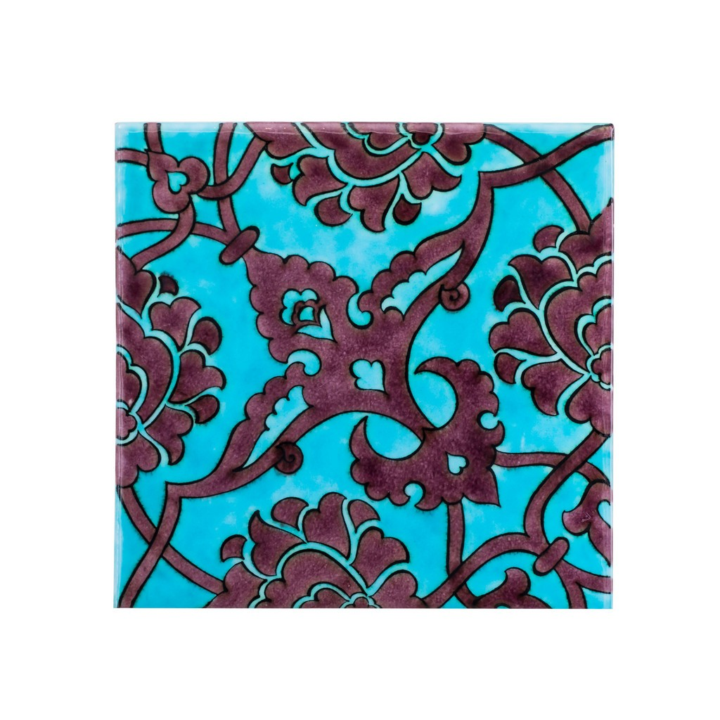 Tile with damasque pattern ;;20/25 - FLORAL