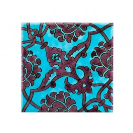 FLORAL Tile with damasque pattern ;;20/25