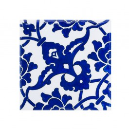 FLORAL Tile with damasque pattern ;;23.5/20/25