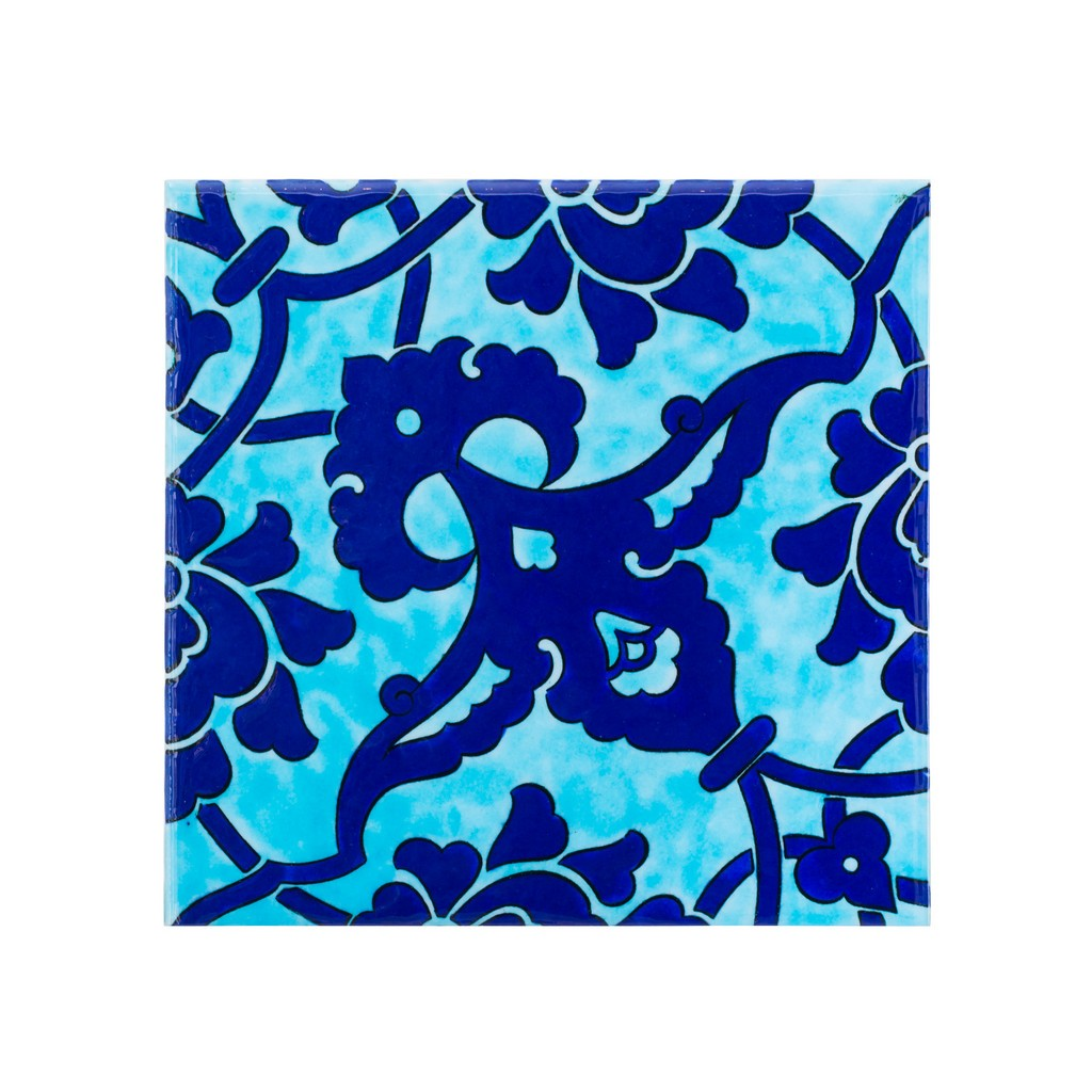 Tile with damasque pattern ;;23.5/20/25 - FLORAL