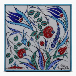 TILE & PANELS Tile with floral pattern ;25;25;;;