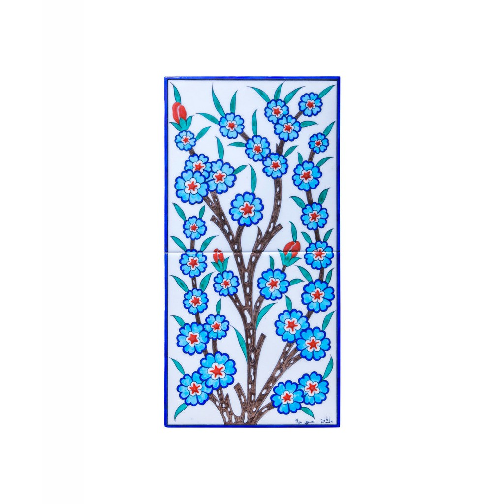 Tile with floral pattern ;50;25;;; - FLORAL
