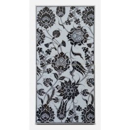 BLACK & WHITE Tile with floral pattern ;50;25;;;