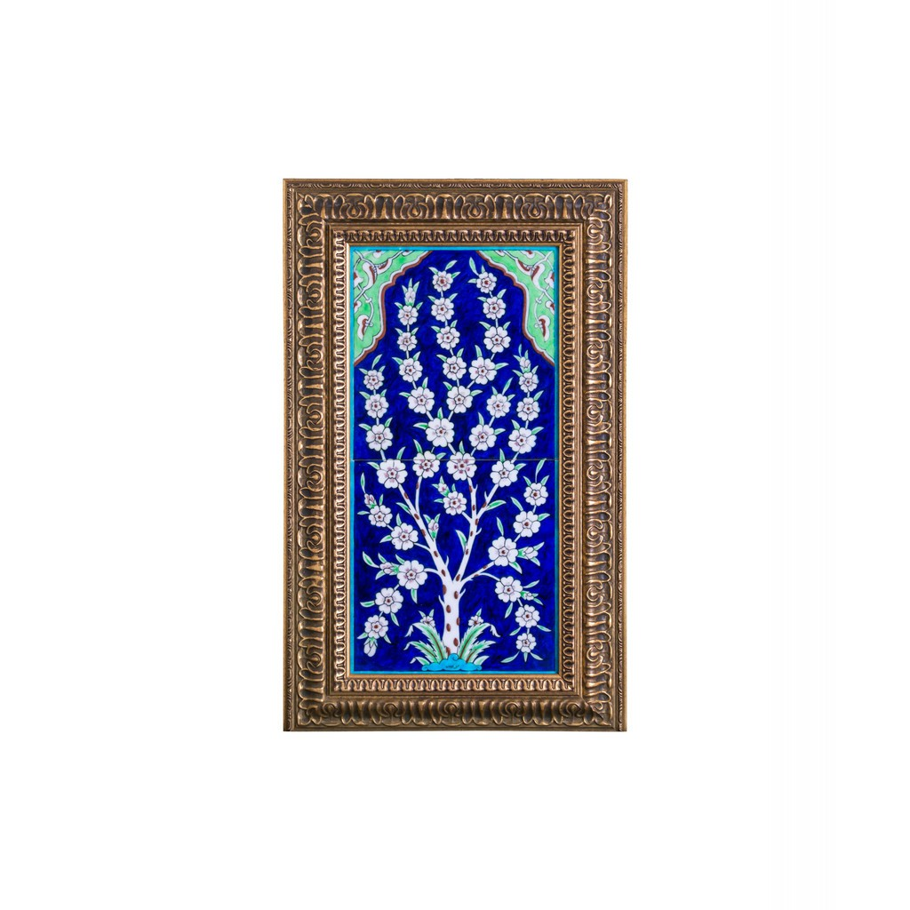 Tile with flower tree and frame Tile;48;24;Frame;64;40 - FLORAL